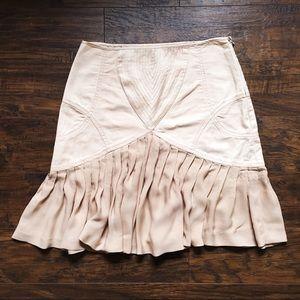 Catherine Malandrino • nude blush pink skirt